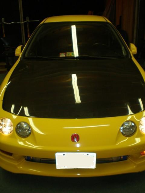 Phoneix Yellow ITR with carbon fiber hood