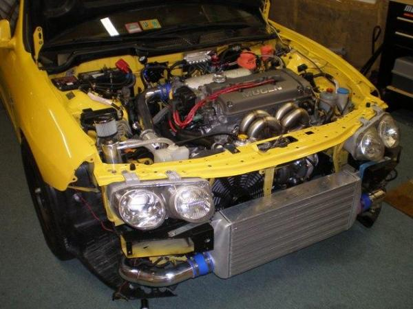Turbocharged Phoneix Yellow Acura Integra Type-R