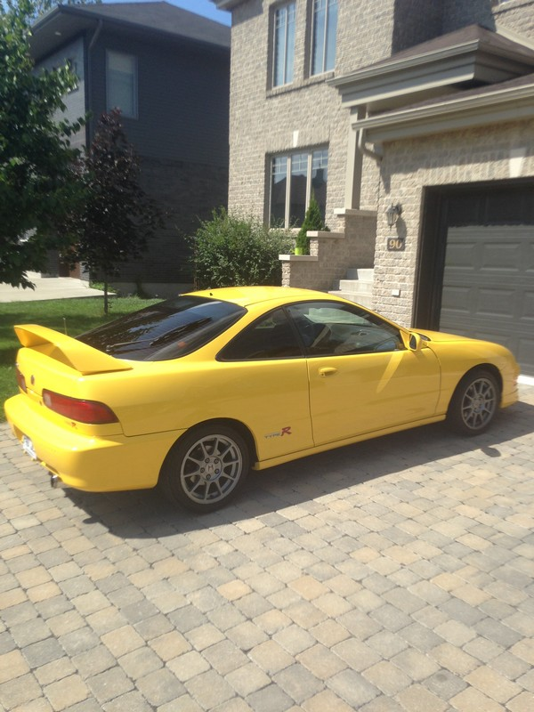 2000 Phoenix Yellow Canadian Integra Type-R JDM Wheels