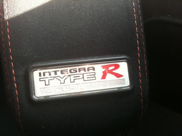 Canadia Integra Type-R badge number