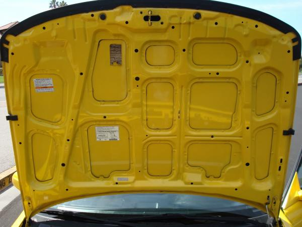 Phoenix Yellow 2000 Acura ITR hood