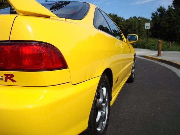 Phoenix Yellow 2000 Acura Integra Type-r rear quarter panel