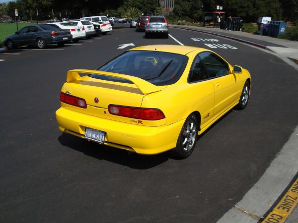 Phoenix Yellow 2000 Acura Integra Type-r passenger side