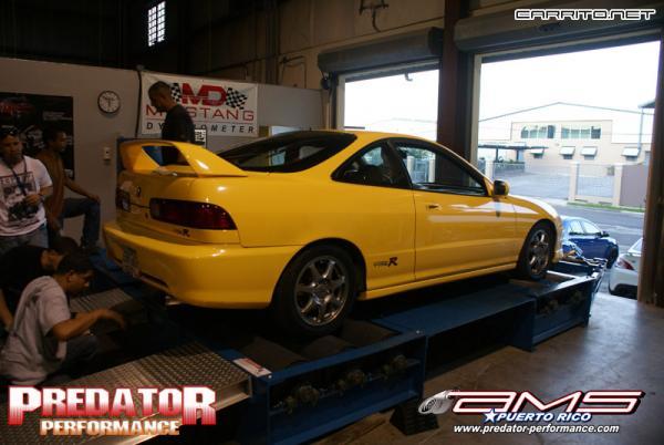 2001 Acura ITR on the dyno