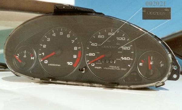Low mileage USDM Integra Type-R gauge cluster