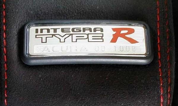 USDM Integra Type-R armrest badge