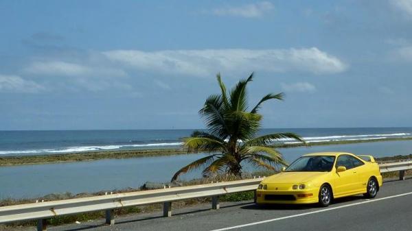 Phoenix yellow integra typeR scenic beach picture