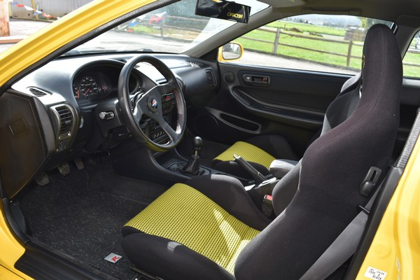 2000 Phoenix Yellow Acura Integra Type-R custom interior