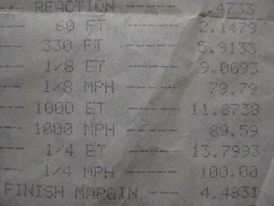 Integra Type-R drag race timeslip
