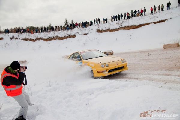 Phoenix Yellow 2000 Acura Integra Type-r rally car