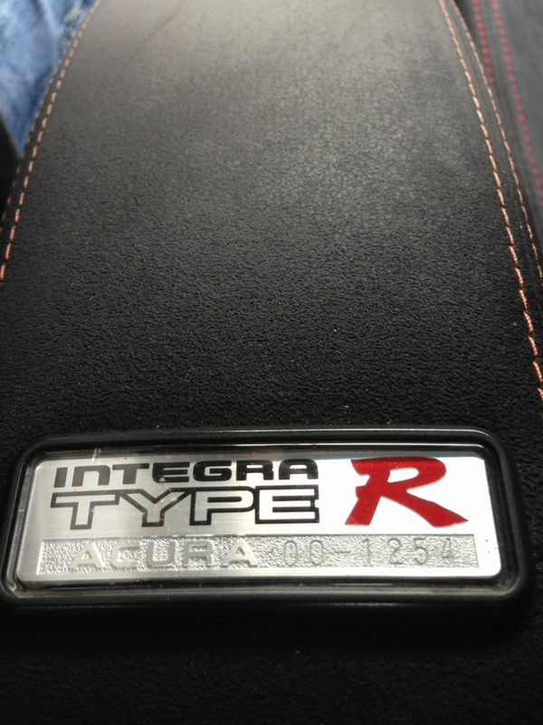 2000 Acura Integra Type-r armrest badge number