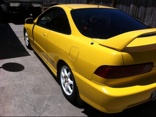2000 Acura Integra Type-r phoenix yellow OEM white wheels