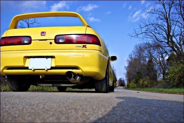 2000 Phoenix Yellow Acura Integra TypeR rear