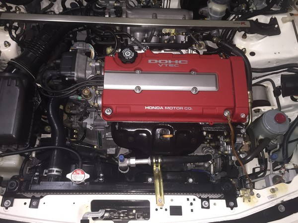 championship white 1997 Acura Integra Type-R engine