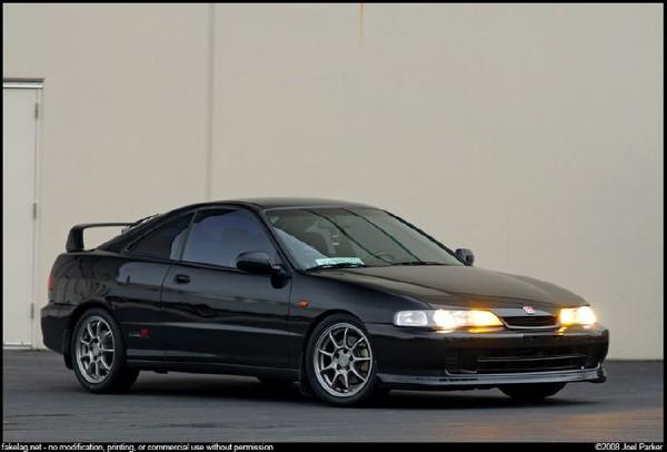 Front right corner shot of ITR with JDM front end and rims