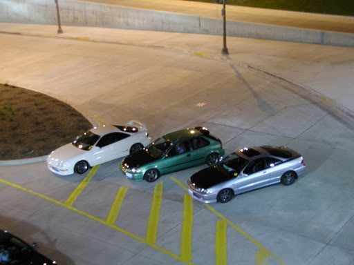 championship white 1997 Acura Integra Type-R from above