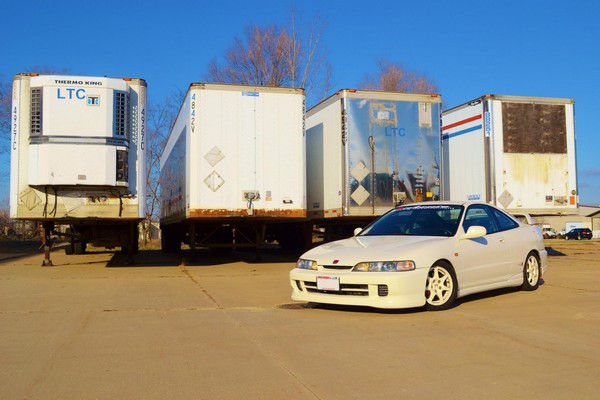 1997 Acura Integra Type-R with trailers