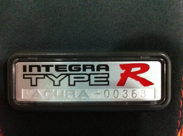 1997 Acura Integra Type-R arm rest badge