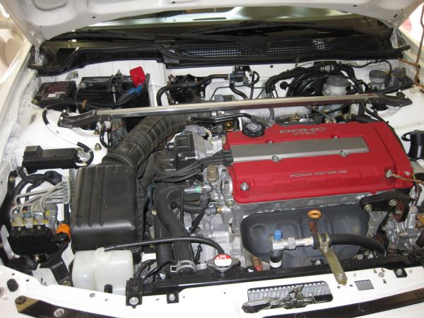 Unmodified 1997 Integra Type-R engine bay