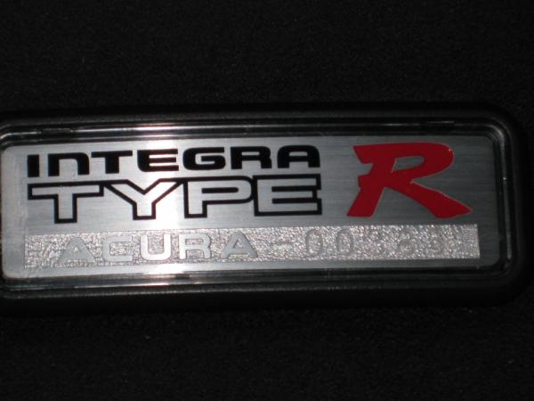 1997 Acura Integra Type-R center console badge number