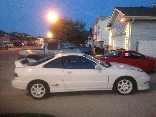 championship white 1997 Acura Integra Type-R with NSX