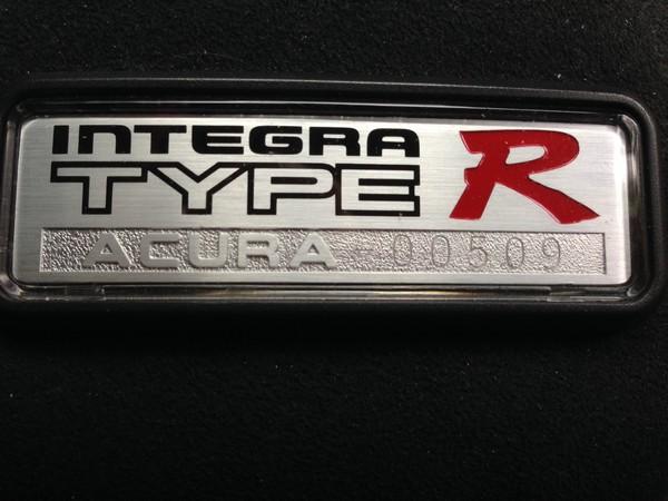 1997 Acura Integra Type-R badge