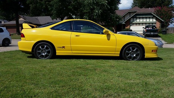 Lightly modified 2001 Integra Type R phoenix yellow