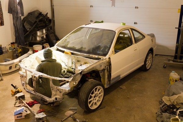 2001 Integra Type R preparing for paint job