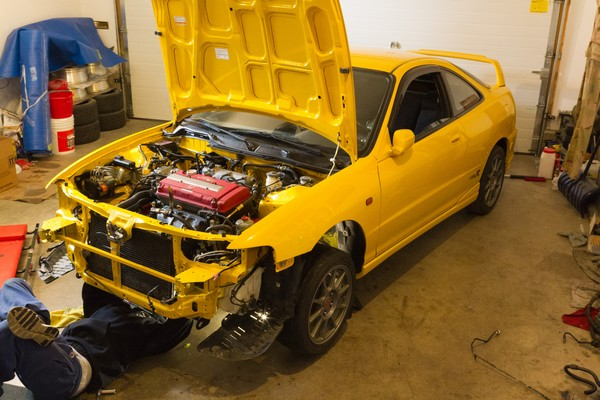 2001 Integra Type R JDM Front end Y-65P Rio Yellow Pearl