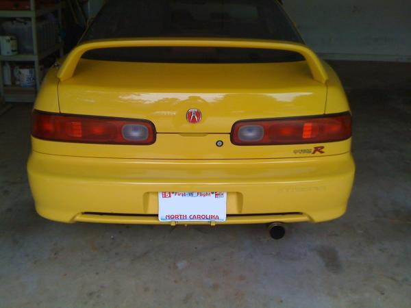 2001 Phoenix Yellow Integra TypeR Back End