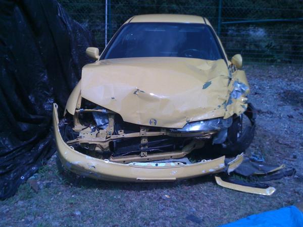 2001 Phoenix Yellow Integra TypeR Wrecked JDM Front end