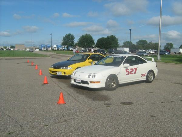 2 Integra Type-R's at the races