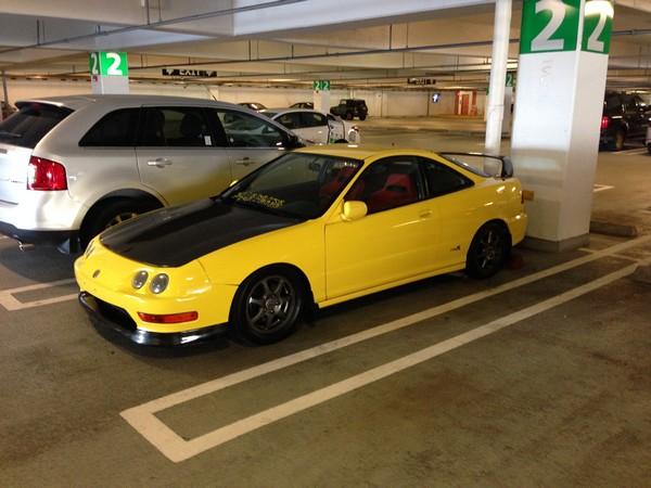 Phoenix Yellow 2001 Acura Integra type-r modified