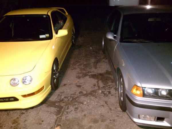 Phoenix Yellow 2001 Type-R in driveway