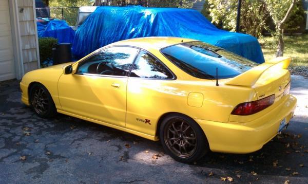 Phoenix Yellow 2001 Acura ITR Mugen MF-10's