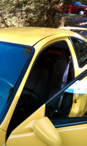 Phoenix Yellow 2001 Acura ITR black JDM recaro