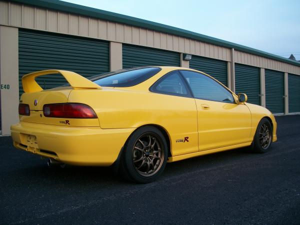 '01 Acura ITR Phoenix Yellow side and rear