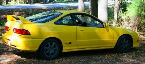 2001 Phoenix Yellow Acura Integra Type-R