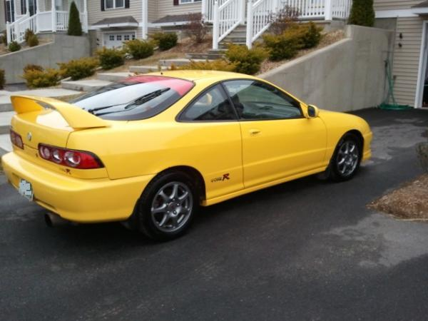 2001 Phoenix Yellow Acura Integra Type-R with altezza tail lights