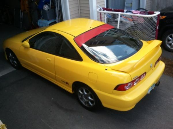 2001 Phoenix Yellow Acura Integra Type-R from above