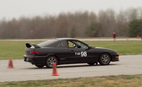 Nighthawk Black Pearl Integra Type-R hitting the track