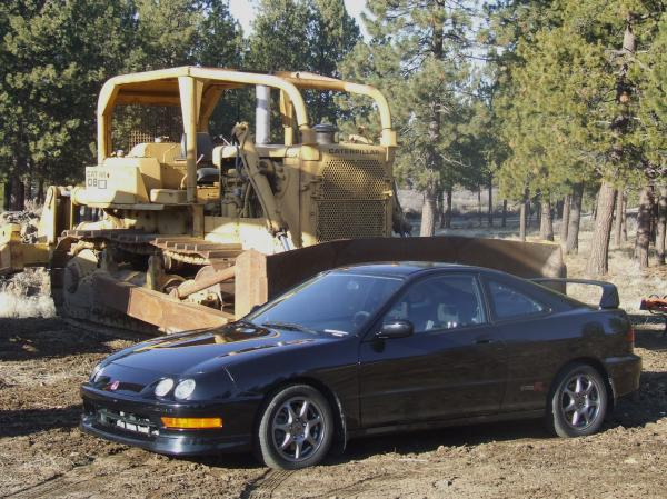 2001 integra type-r and a bulldozer meet