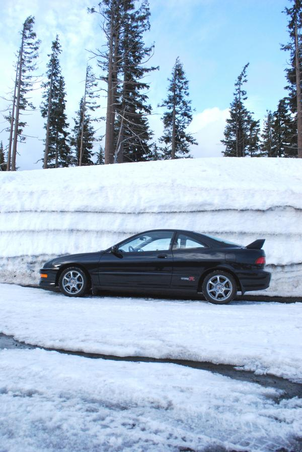 2001 Acura Integra type-r and a snow wall
