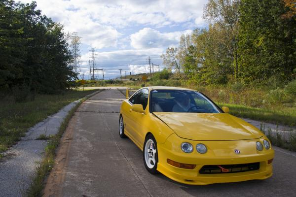 Phoenix Yellow Acura Integra Type-R