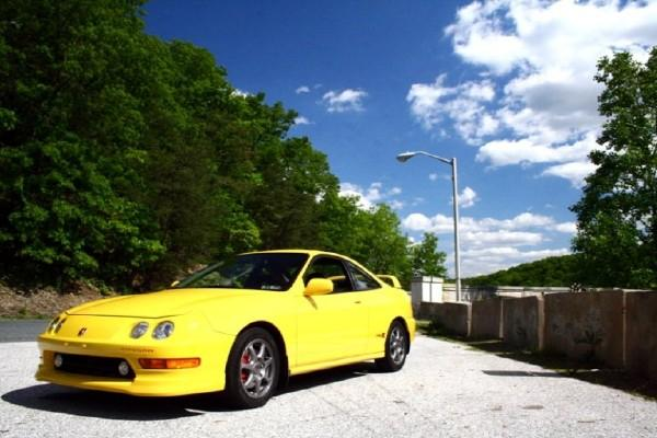 Stock looking Phoenix Yellow Integra Type-R front corner