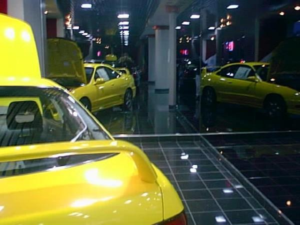 Phoenix Yellow Integra Type-R inside showroom