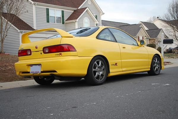 01 acura integra type-r phoenix yellow