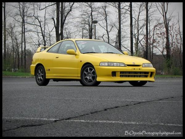 2001 Phoenix Yellow Integra Type-R JDM Front end