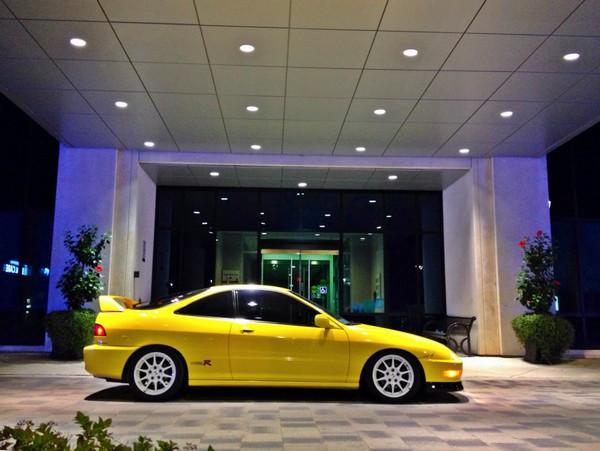2001 Phoenix Yellow Integra type-R CW JDM Wheels