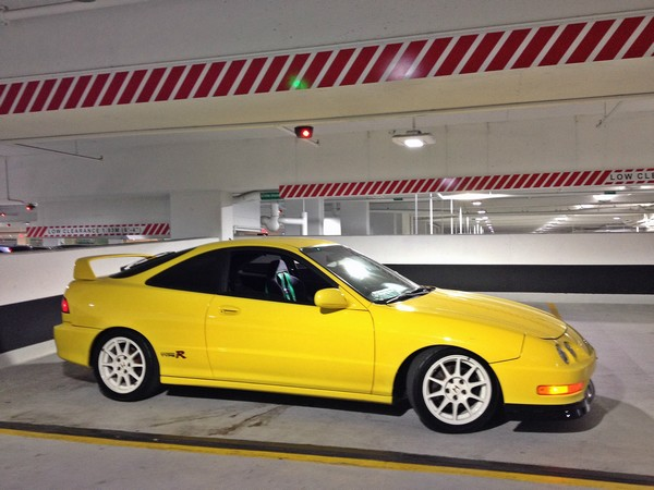 2001 Canadian Phoenix Yellow Acura Integra type-R